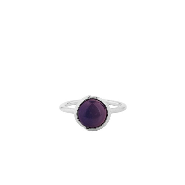 Pernille Corydon Aura Amethyst Ring Adjustable Silver