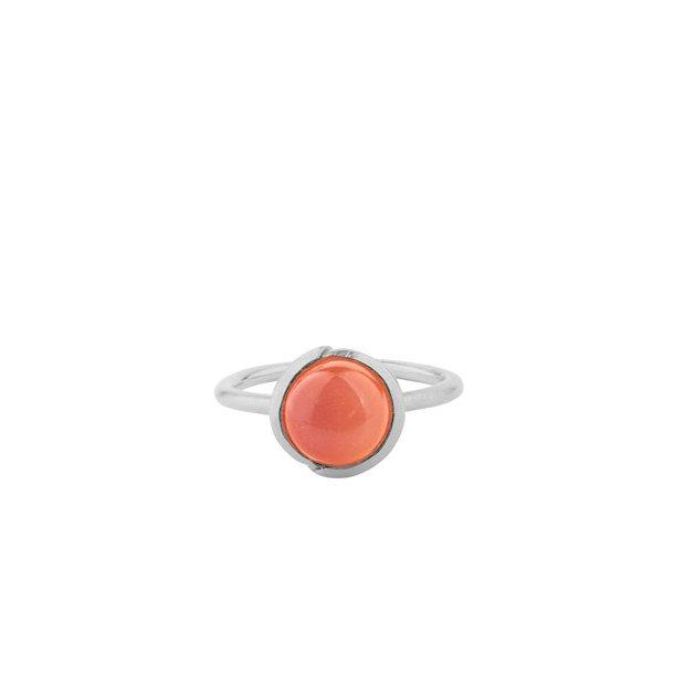 Pernille Corydon Aura Coral Ring Adjustable Silver