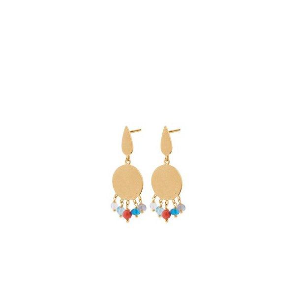 Pernille Corydon Dayglow Earsticks 24 mm Forgyldt
