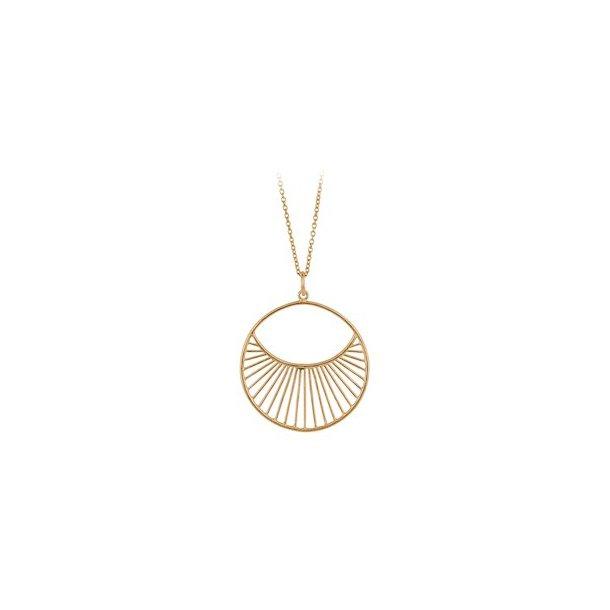 Pernille Corydon Daylight Necklace Short Forgyldt