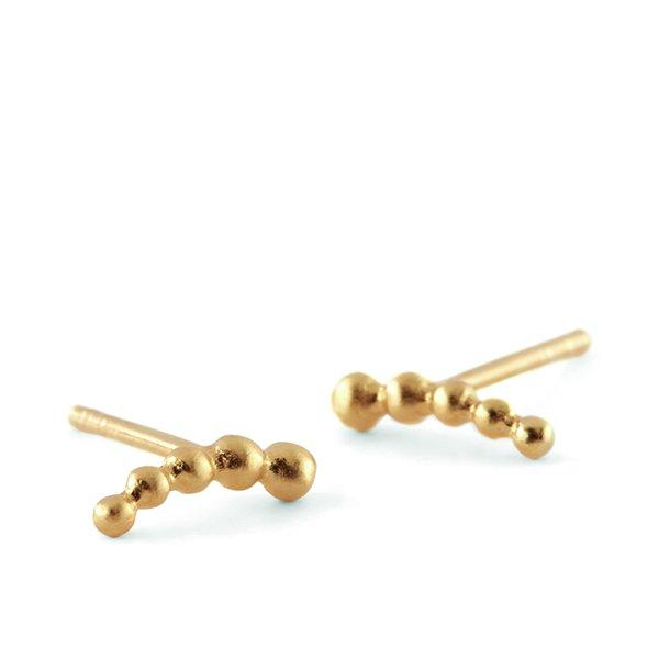 Pernille Corydon 5 Pearl Earsticks Forgyldt