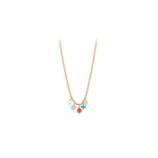 Pernille Corydon Dayglow Necklace Adjustable Forgyldt