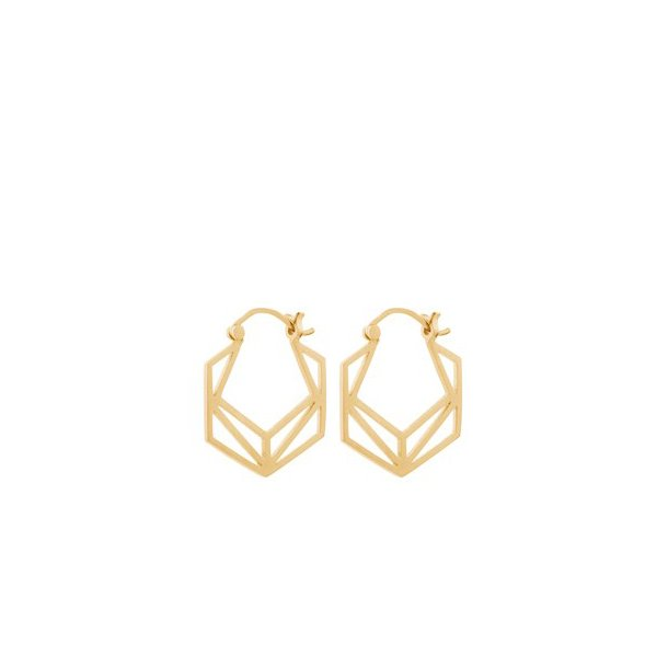 Pernille Corydon Icon Earrings 22 mm Forgyldt