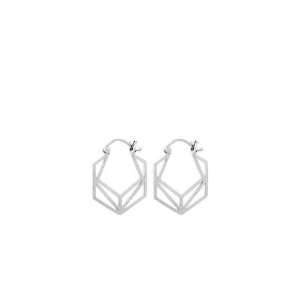 Pernille Corydon Icon Earrings 22 mm Silver