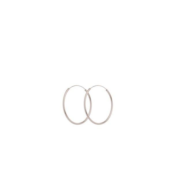 Pernille Corydon Mini Plain Hoops Silver