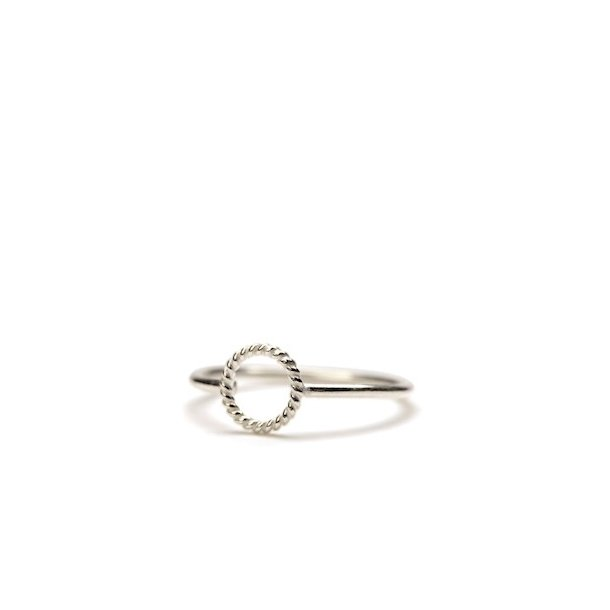Pernille Corydon Mini Twisted Open Coin Ring Silver