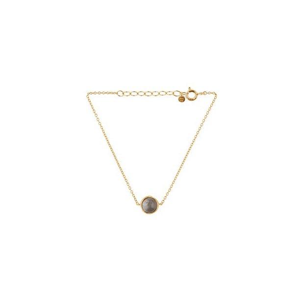 Pernille Corydon Aura Grey Moonstone Bracelet Adjustable Forgyldt