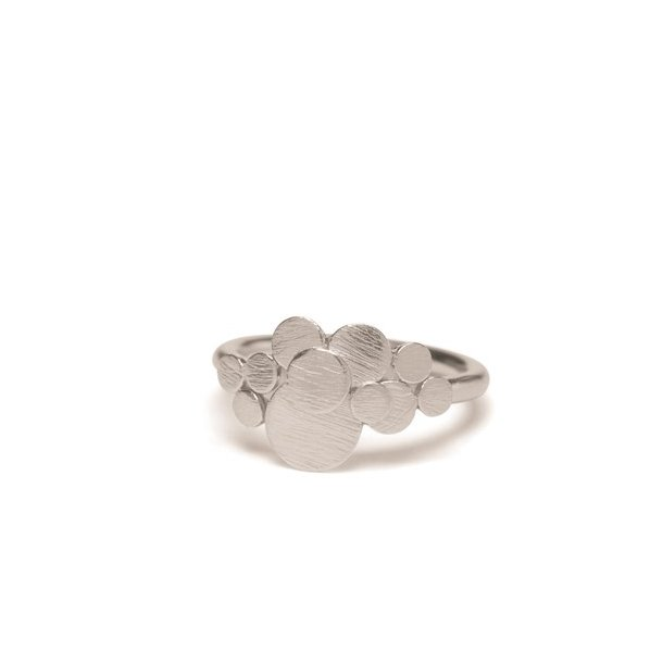 Pernille Corydon Multi Coin Ring Adjustable Silver