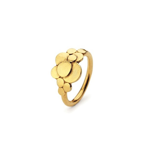 Pernille Corydon Multi Coin Ring Adjustable Forgyldt