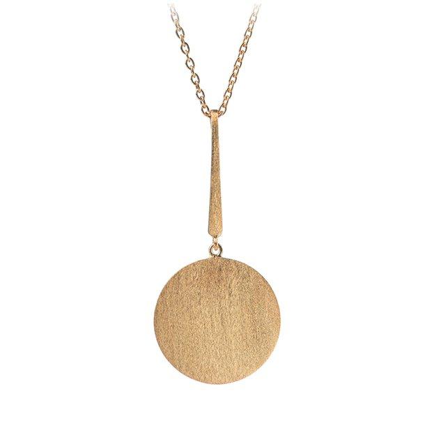 Pernille Corydon Long Coin Necklace Forgyldt