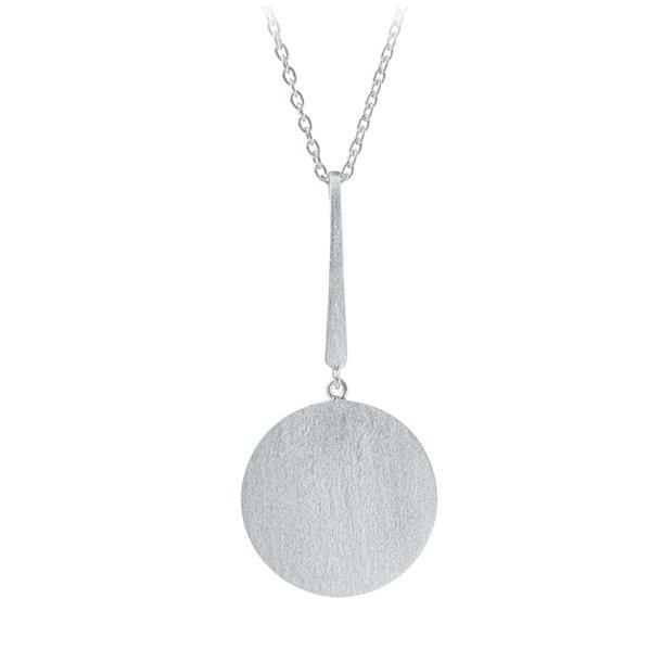 Pernille Corydon Long Coin Necklace Silver