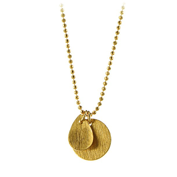 Pernille Corydon Coin And Drop Necklace Forgyldt