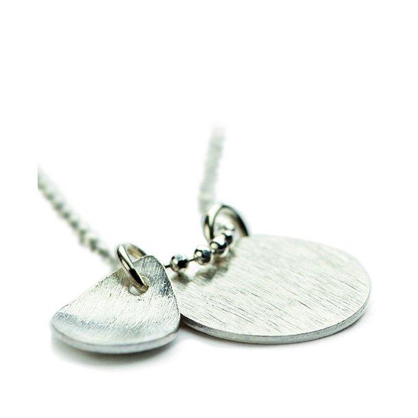Pernille Corydon Coin And Drop Necklace Silver