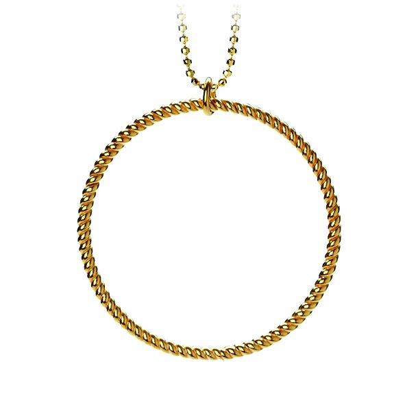 Pernille Corydon Big Twisted Necklace Forgyldt