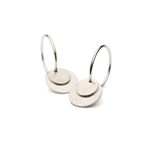 Pernille Corydon Small Coin Earrings Silver